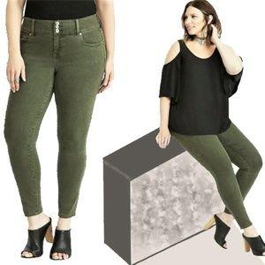 TORRID Skinny Stretch High-Rise Jeans Olive Green